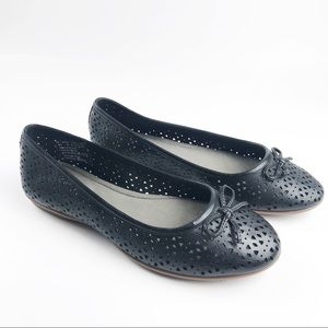 Hush Puppies Robin Perforated Black Flats